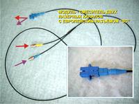 Модуль - смеситель двух лазерных каналов с европейским разъемом 'SC'